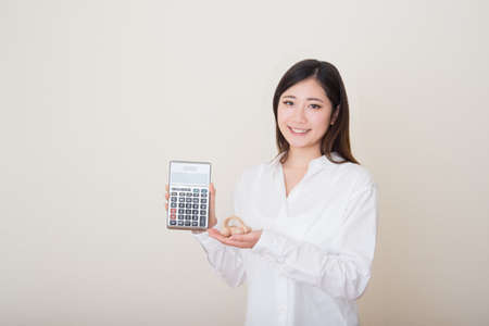 model car in young asian womans hands
