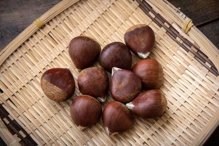 japanese chestnut image Stockfoto