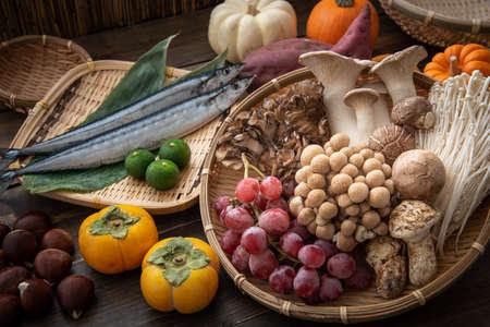 assorted japanese autumn food