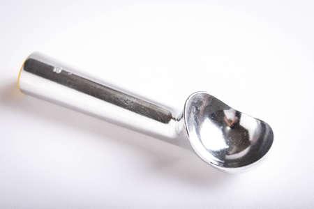 isolated ice cream scooper on white background