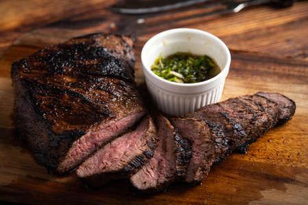 bistecca tri tip grigliata e affettata Archivio Fotografico