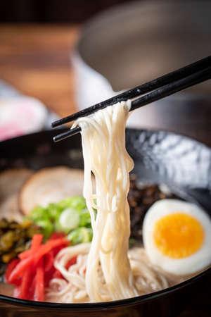 japanese authentic pork bone broth ramen