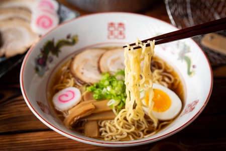 japanese authentic chicken broth ramen