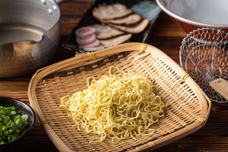 japanese raw wavy ramen noodle