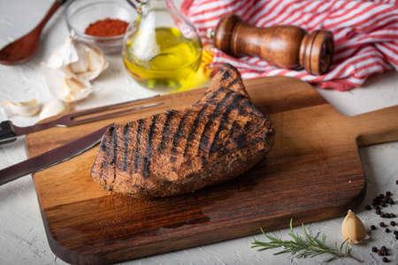grilled tri tip steak marinated with santa maria sauce