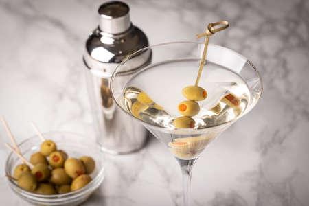 glass of martini on marble background Reklamní fotografie