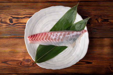raw sashimi block of japanese red snapper