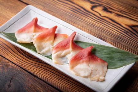 hokkigai, japanese surf clam for sushi