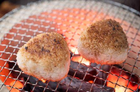 Yaki-Onigiri, japanese rice balls with soy sauce