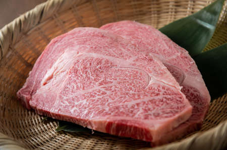 japanese marbled fatty wagyu ribeye beef Banque d'images