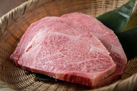 japanese marbled fatty wagyu ribeye beef Stock fotó