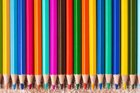color pencils background with copyspace