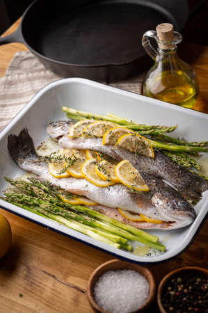trout with lemon and herb for grill