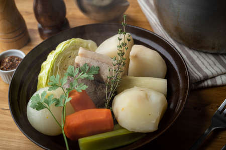 pot au feu, french hot pot 免版税图像