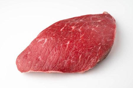 Flank steak, London Broil, Jiffy steak on white background 免版税图像