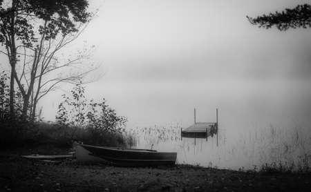 Foggy morning on the Lake photo