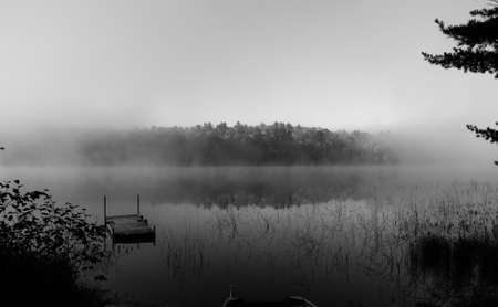 peacefulness: Foggy morning on the Lake