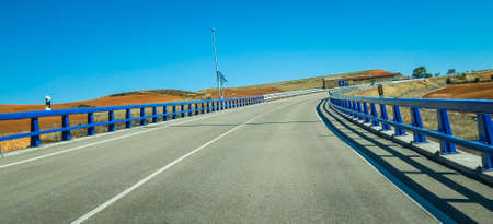 guardrail: Highways of Spain Stock Photo