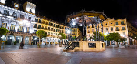 portico: Segovia Market Square at night.