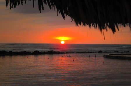 sun bathers: Sunsets in El Salvador.