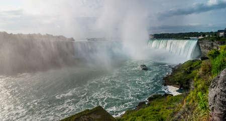 audible: Boat tour into Niagara Falls on a November morning.