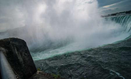 churning: Over the edge, Niagara Falls on a November morning.