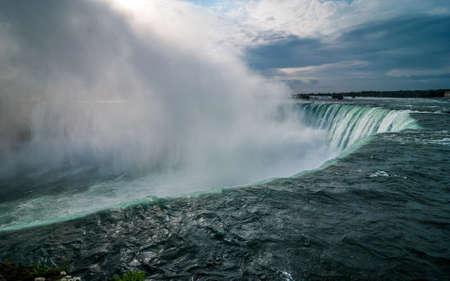 audible: Over the edge, Niagara Falls on a November morning.