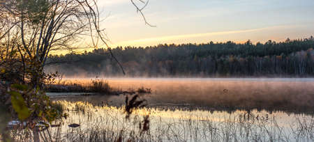 stillness: Early October morning on the Lake in Chalk River.