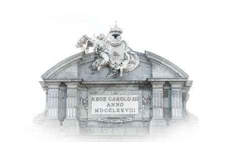 cherubs: Welcome to the city of Madrid.     Puerta de Alcal stands at Plaza de la Independencia in Madrid and once served to visiting and reigning elite as the old gateway to the city.