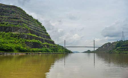 Centennial Bridge, Puente Centenario, crossing the Panama Canal Archivio Fotografico