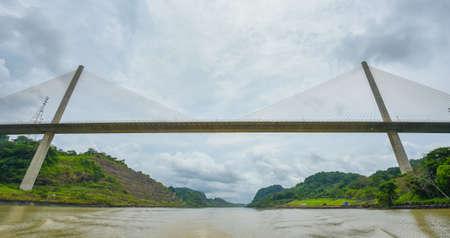 Centennial Bridge, Puente Centenario, crossing the Panama Canal Stock Photo