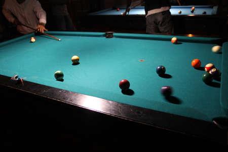 billiard: playing billiard