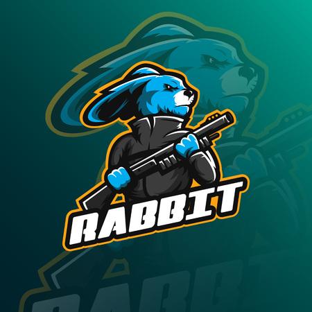 Rabbit mascot  design vector