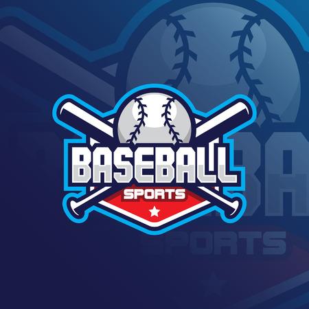 baseball vector mascot logo design with modern illustration concept style for badge, emblem and tshirt printing. baseball emblem illustration for sport team.