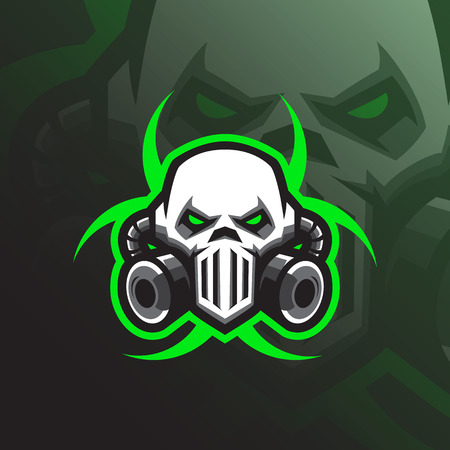toxic mascot logo design vector with modern illustration concept style for badge, emblem and tshirt printing. mask toxic illustration for sport team.