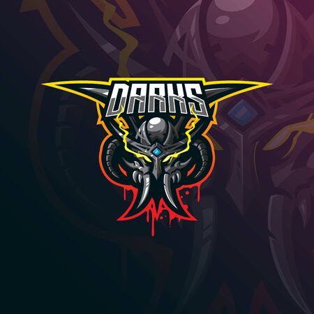 devil mascot logo design vector with modern illustration concept style for badge, emblem and tshirt printing. dark devil illustration for sport team.