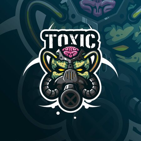 Head toxic mask mascot  design Stock fotó - 137928770