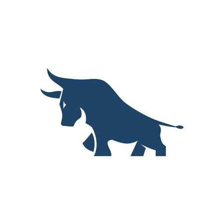 logo design bull vector