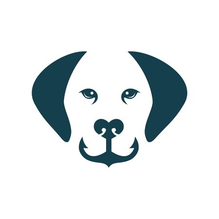 logo design dog anchor vector Фото со стока - 148098583