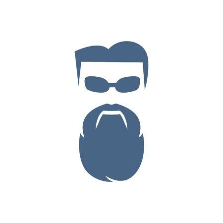 logo design beard people vector