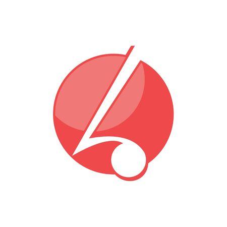 logo design letter L note music vector icon