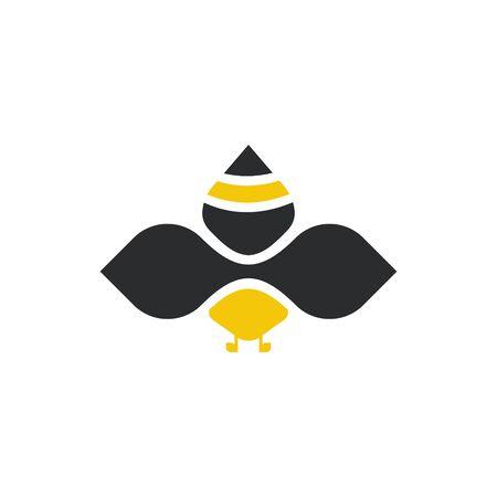 logo design bee icon vector