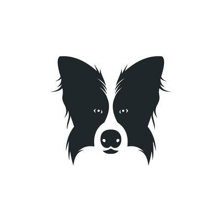 logo design dog border collie vector