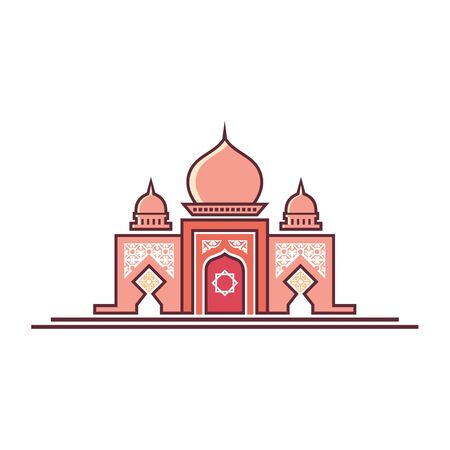 logo design taj mahal icon vector