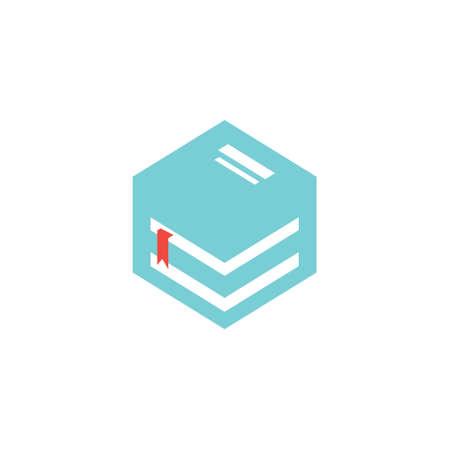 logo design book box vector 일러스트