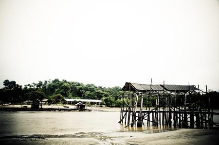 kampung: The obsolete fisherman hut in johor, malaysia