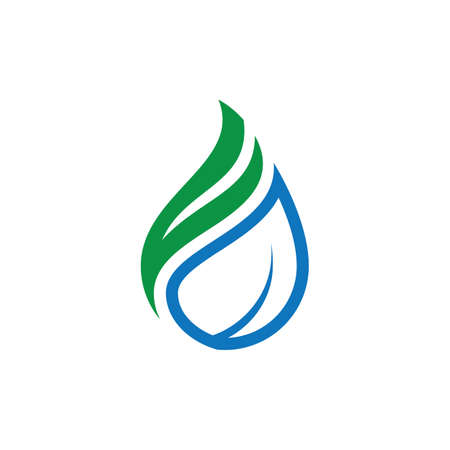 Leaf Eco water-drop style logo Çizim