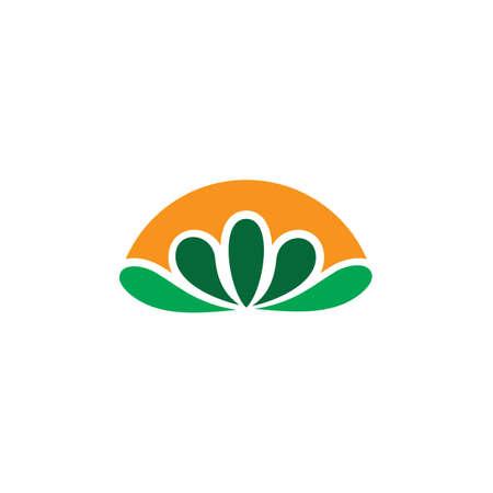 abstract leaf eco logo Ilustração