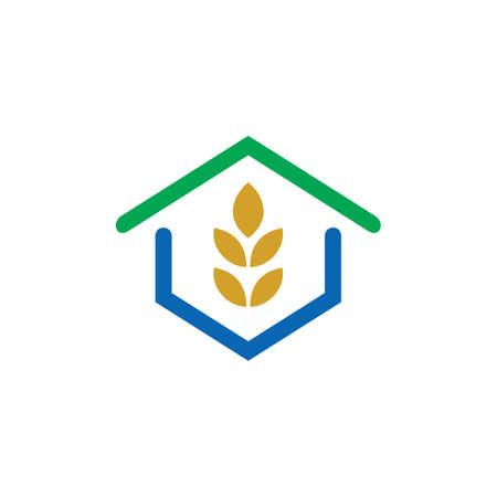 House eco leaf green logo Ilustração