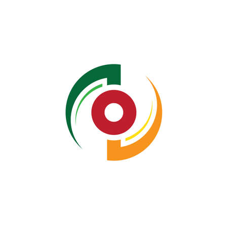 abstract circle swirl business logo Ilustração